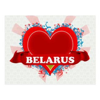 Vintage I Love Belarus Postcard