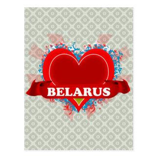 Vintage I Love Belarus Post Cards