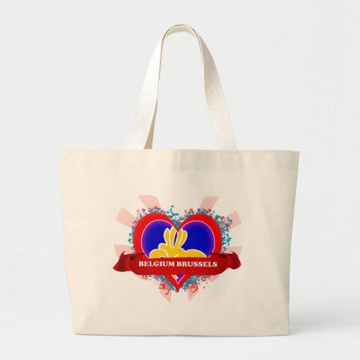 Vintage I Love Belgium Brussels Jumbo Tote Bag