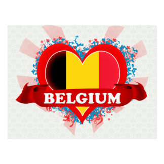 Vintage I Love Belgium Postcard