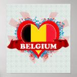Vintage I Love Belgium Posters