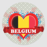 Vintage I Love Belgium Sticker