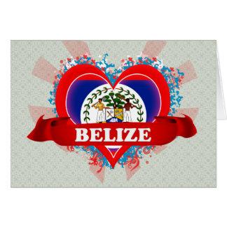 Vintage I Love Belize Greeting Cards