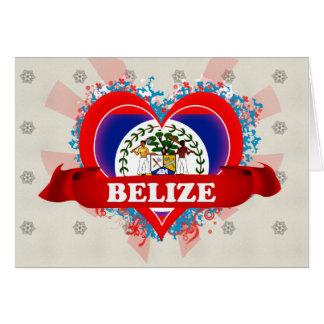 Vintage I Love Belize Card
