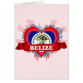Vintage I Love Belize Greeting Card