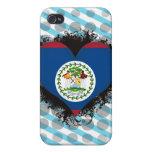 Vintage I Love Belize iPhone 4 Cases
