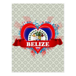 Vintage I Love Belize Postcard