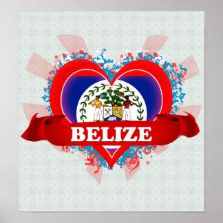 Vintage I Love Belize Print