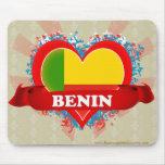 Vintage I Love Benin Mouse Pad