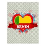 Vintage I Love Benin Postcard