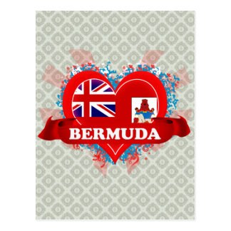 Vintage I Love Bermuda Postcards