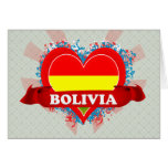 Vintage I Love Bolivia Greeting Card