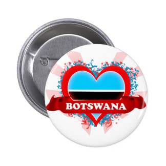 Vintage I Love Botswana Button