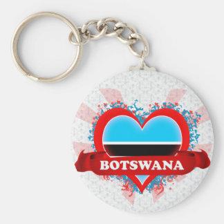 Vintage I Love Botswana Keychain
