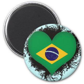 Vintage I Love Brazil 2 Inch Round Magnet