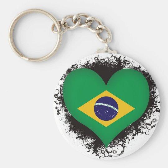 Vintage I Love Brazil Keychain