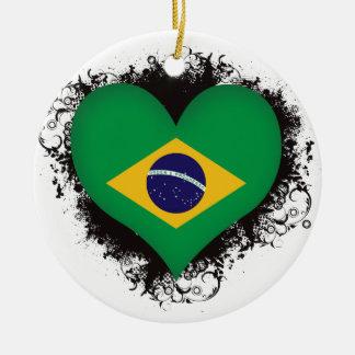 Vintage I Love Brazil Christmas Ornament