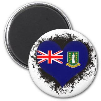 Vintage I Love British Virgin Islands 2 Inch Round Magnet