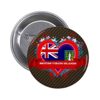 Vintage I Love British Virgin Islands Button