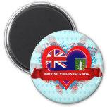Vintage I Love British Virgin Islands Fridge Magnets