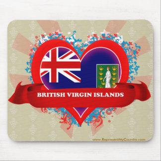 Vintage I Love British Virgin Islands Mousepad