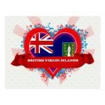 Vintage I Love British Virgin Islands Postcard
