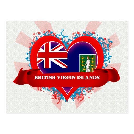 Vintage I Love British Virgin Islands Postcards