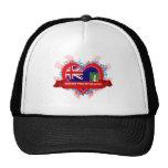Vintage I Love British Virgin Islands Trucker Hats