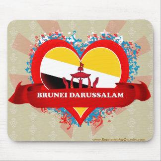 Vintage I Love Brunei Darussalam Mouse Pad