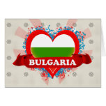 Vintage I Love Bulgaria Greeting Cards