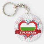 Vintage I Love Bulgaria Key Chain