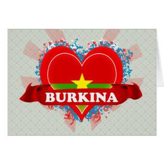 Vintage I Love Burkina Card
