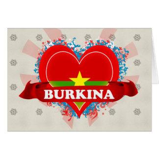 Vintage I Love Burkina Greeting Card