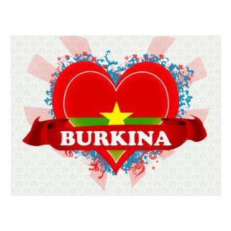 Vintage I Love Burkina Post Cards