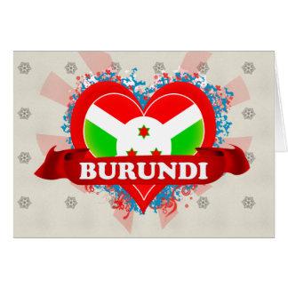 Vintage I Love Burundi Card