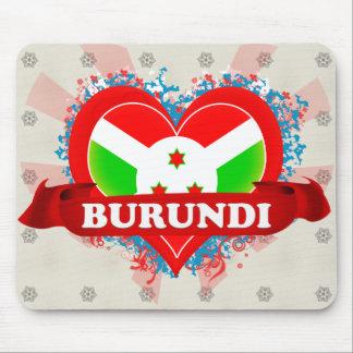 Vintage I Love Burundi Mouse Pads