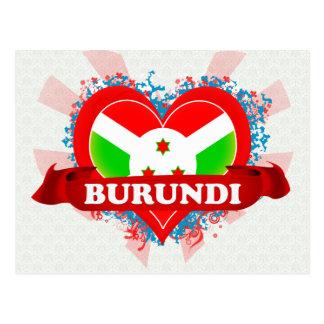 Vintage I Love Burundi Post Card