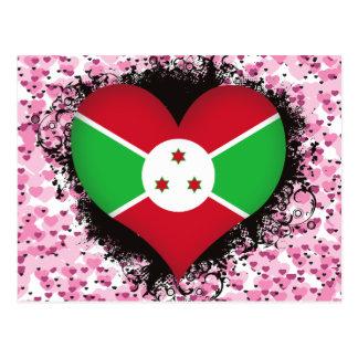 Vintage I Love Burundi Post Cards