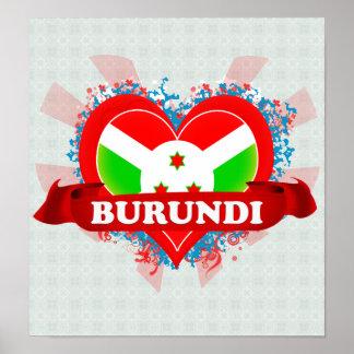 Vintage I Love Burundi Posters