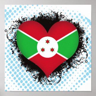 Vintage I Love Burundi Print
