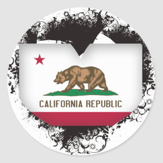 Vintage I Love California Classic Round Sticker