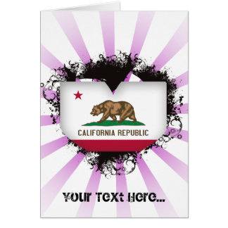 Vintage I Love California Greeting Card