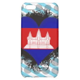 Vintage I Love Cambodia Case For iPhone 5C