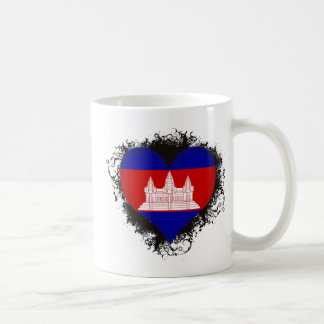 Vintage I Love Cambodia Classic White Coffee Mug