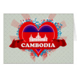 Vintage I Love Cambodia Greeting Cards