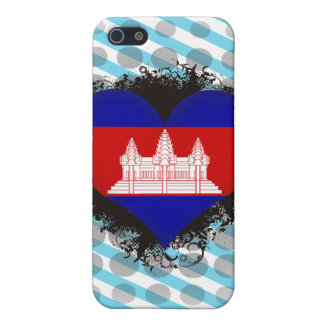 Vintage I Love Cambodia iPhone 5 Covers