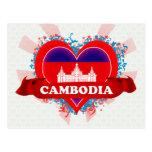 Vintage I Love Cambodia Post Cards