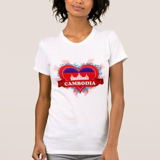 Vintage I Love Cambodia Shirts