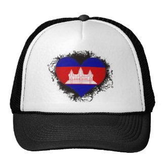 Vintage I Love Cambodia Trucker Hat