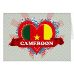 Vintage I Love Cameroon Cards